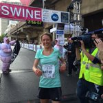 Congratulations to Anne Flower for winning the @RunFlyingPig. This was her first ever marathon! You go girl!!! https://t.co/v929xqHx10