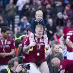 Full house. Archie on my shoulders and Jaybo kegs me. 😂😂😂 cheers Jason #ntfc ⚽️ https://t.co/7tjWfHRAcI