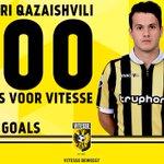 Valeri Qazaishvili speelt vandaag zijn 100e eredivisieduel voor #Vitesse. Vako staat op 24 goals. #vitutr https://t.co/Y1t7bVTMq7