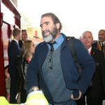 Cantona at Old Trafford for todays game. Well.....drink a drink a drink To Eric the King the King the King #Mufc https://t.co/2DytSyN3jx