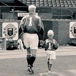 I saw this touching photo last week of father and son gracing the pitch at Old Trafford. Proud day for their family. https://t.co/YmGnx9qYcM