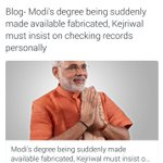 Kejriwal sir may personally verify Modis degree???? Modi must rewrite the exam & this time sir must set the paper ???????????? https://t.co/vNnm82f1tq