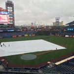 #Phillies grounds crew is taking the tarp off the field at Citizens Bank Park. https://t.co/bx2HDyzyGd