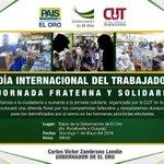 En pocos minutos Inicia Jornada Fraterna y Solidaria organizada por @EcuadorCut y #GoberElOro #1deMayoSolidario https://t.co/qWNxXn04sV