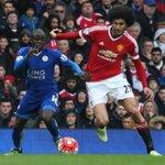 FINAL DEL PRIMER TIEMPO: Manchester United 1-1 Leicester. Emocionante primera mitad. Anotó Anthony Martial #mufc https://t.co/yGI7nFhAc8