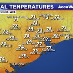 Current temperatures around the #Houston area. #TXwx https://t.co/AZ53kCPfWa