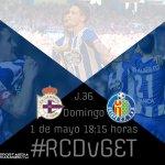 Listo para volver a disfrutar con vosotros en un gran partido en Riazor. Forza @RCDeportivo! #RCDvGET #DaleDé https://t.co/R1Vnz2Mvur