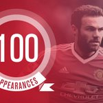 Its @JuanMata8s 100th appearance for #mufc - congratulations, Juan! https://t.co/sW2zov1qJQ