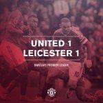 FINAL: Manchester United 1-1 Leicester. Los visitantes finalizaron con 10 en un partido muy emocionante #mufc https://t.co/bgma58SPAF
