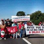Trancaço contra o golpe na cidade de Bauru, interior de SP, realizado pela @frentebrasilpop https://t.co/WG70tQhUnU