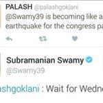 Oh God..!! Congress be better prepared smile emoticon Heard TRP of Rajya Sabha is at its highest..!! #SwamyRocks https://t.co/uyq7NDGUaJ