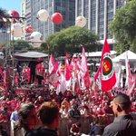 Anhangabaú tá lindo gritando: Não Vai ter golpe! #1deMaioÉdeLuta https://t.co/6c9NV9US5F