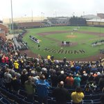 Shoutout to all of our fans today for the great turnout! First pitch is just moments away. #goblue https://t.co/s8i2UkIGKe