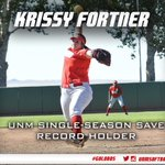 ICYMI, @kricki16 broke her own single-season save record with her 6th save on the year in yesterdays win! #GoLobos https://t.co/EtKiWWgYmf