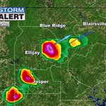 Strong storm with hail moving through Gilmer County, heading to Fannin County. https://t.co/XHcLvpfR20