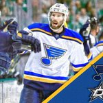 St. Louis ties it up! David Backes power play goal in overtime lifts Blues over Stars, 4-3. https://t.co/zDZCEQC0Bx
