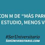 """Mayo con M de """"Más parciales, más estudio, menos vida"""". #SerUniversitario https://t.co/39nU88ckwr"""