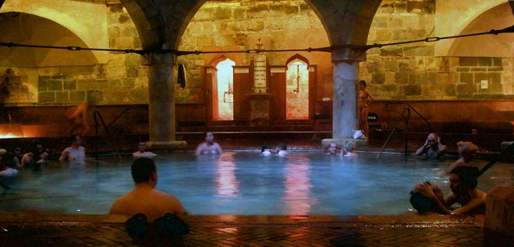Soaking in the atmospheric old thermal baths of Budapest Hungary: ttot @HungaryTourismUK
