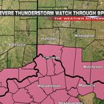 JUST IN: Severe Thunderstorm WATCH for southern Tri-State through 9pm. Includes #Cincinnati. https://t.co/BAdeHLZNAn