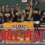 THREE-PEAT! Three straight @HorizonLeague titles for the Youngstown State Womens Tennis Team! #GoGuins #YandProud https://t.co/zxwZId0Nv8