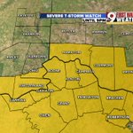 A Severe Thunderstorm Watch is in effect until 9PM for much of the Tri-State. Hail & damaging winds possible @WCPO https://t.co/GDr5bLrchF