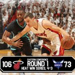 Miami dominates in Game 7! Heat advance to Eastern Conference Semifinals after blowing out Hornets, 106-73. https://t.co/KwqZtSsWdD
