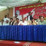 """""""PPP MNA @ShahNafisa is speaking to #LabourDay Program arranged by Peoples Labour Bureau at #KPC @NisarKhuhro_SME https://t.co/z0Jk0LmPd4"""