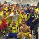 #SomdeChampions ¡El equipo celebra la clasificación para la @ChampionsLeague en el vestuario! ¡Enhorabuena Groguets! https://t.co/zmAlzNDXki