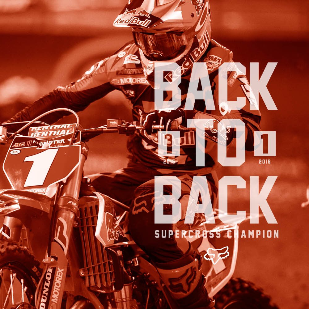 @ryandungey | 2016 SX Champ | #backtoback #foxracing #liveforit https://t.co/8AhxKQmu6c