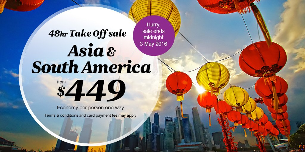 Experience Asia & Buenos Aires with our 48hr Take Off sale. Deals end tomorrow night!  https://t.co/IhFI4mmLyi https://t.co/EPw5HRjIZv