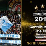 WINNER: the #HTAFCAnnualAwards Contribution to the Club accolade goes to the @NorthStandLoyal! #htafc (DTS) https://t.co/Tj45ksyFwz