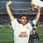 Maradona en el #Sevilla y el mítico patrocinio de Super Nintendo ???? https://t.co/k2Y1IRDlTu
