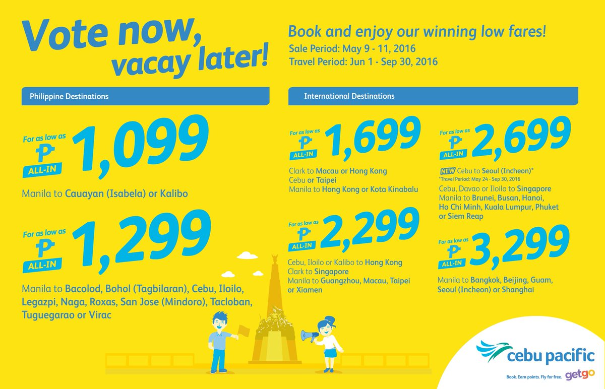 Feel like a winner and enjoy your vacay with the new CEBSeatSale! Book now!
