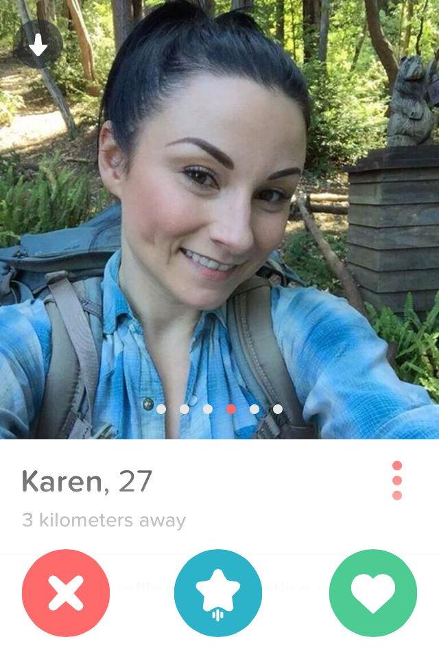 Not Karen! ? RT : Some chick on Tinder using pics to catfish #solidstrategy