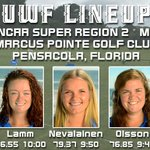 .@UWFWGolf Lineup for today's @NCAADII Women's Golf Super Region 2 first day. Live scoring: https://t.co/nPxQL5BJvP https://t.co/xiMj6OLMZs