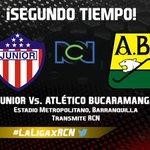 Comienza el segundo tiempo en el Metropolitano. @JuniorClubSA 1-1 @ABucaramanga https://t.co/0O6q7kExkr https://t.co/Vh659PO3BU