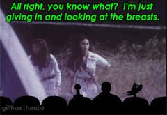 Crow: Alright you know what? I'm just giving in and looking at the breasts  #AngelsRevenge #mst3k   @snapdragon76 https://t.co/FfCvBooOMA