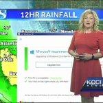 【KY】天気予報中、Windows 10のアップグレード画面が出現 https://t.co/OBf0k5ZyxL 女性は「ポップアップが何度も出現するのと同じように、今晩は風がやむことなく吹き続けるでしょう」とまとめました。 https://t.co/hqlj4OIwD3