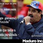 """Maduro amenazó con una """"Huelga general indefinida"""". Que alguien le diga que tiene paralizado el país #MaduroIncapaz https://t.co/xnxcRKtMrs"""