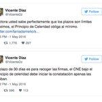 El ex-rector del CNE, Vicente Díaz, responde por Twitter a la rectora principal del CNE, Tania D´ #Revocatorio https://t.co/aY903NnIfI