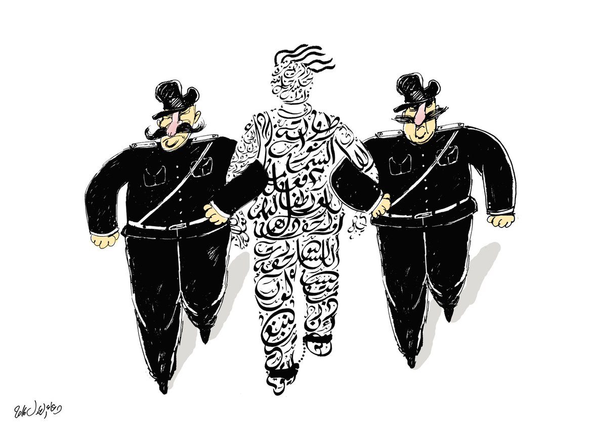 @egyptioncartoon #كاريكاتير الصحافة تحت الحصار @Egyptinwoman @mohie84 @MGar7ey https://t.co/io1mpkmheA