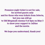 Premiere night ticket is not for sale. #ThisTime2DaysToGo https://t.co/iGmKJeNpS1