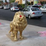 Sad day for public art:The lion @ Decatur has been stolen & the alligators vandalized. A police report will be filed https://t.co/6OiQKNKu4S