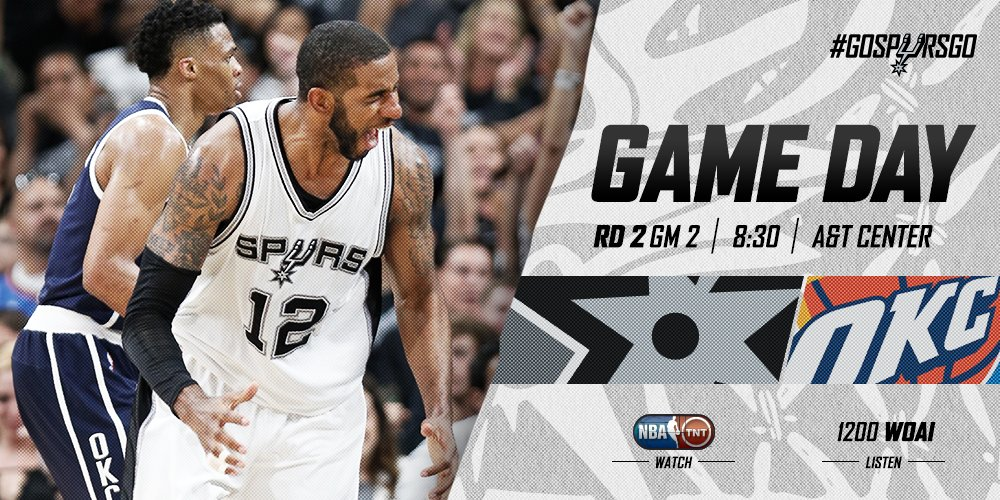 It may be Monday but at least it's also GAME DAY ...#GoSpursGo