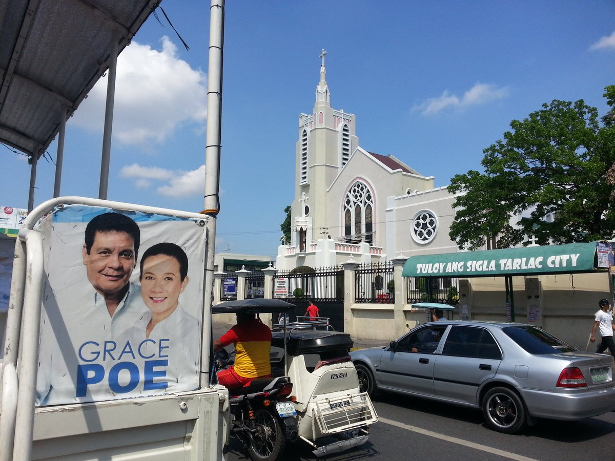 While the others are in Manila Cathedral, Grace Poe is expected to be in Tarlac Cathedral https://t.co/b0K1qJlEFi