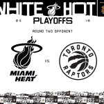 Its official - your #3 seed @MiamiHEAT will face the #2 Toronto Raptors in Round 2 of the #WhiteHot playoffs! https://t.co/s1CAGmGCjs