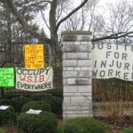 RT Justice For Injured Workers Banner/Signs Exposing #Ontarios @WSIB at #MaydayRally in #ldnont #MayDay2016 #WSIB https://t.co/NPDl3T1tIz