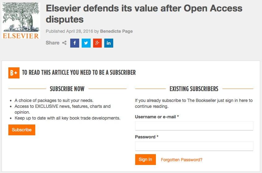「学術論文を誰でも無料で読めるように」と訴えるオープンアクセス運動が加速する中、従来の出版モデルを守りぬくElsevierが猛烈に反論!なお、その反論を読むには有料会員登録が必要… https://t.co/XI1s2WswRP https://t.co/phALvwA2l1
