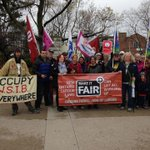 RT @occupywsib banner, #MakeItFair banner, activists & #union members at #MaydayRally In #ldnont #WSIB #MayDay2016 https://t.co/VYALJTCTKG