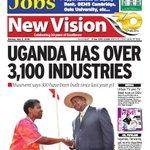 "In the @newvisionwire: ""UGANDA HAS OVER 3,100 INDUSTRIES""  Read #Epaper Online via: https://t.co/diGxKJlGDb https://t.co/VdHaQJ5fKg"